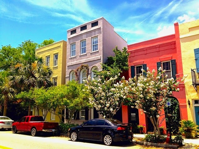 Rainbow Row in Charleston, South Carolina, United States