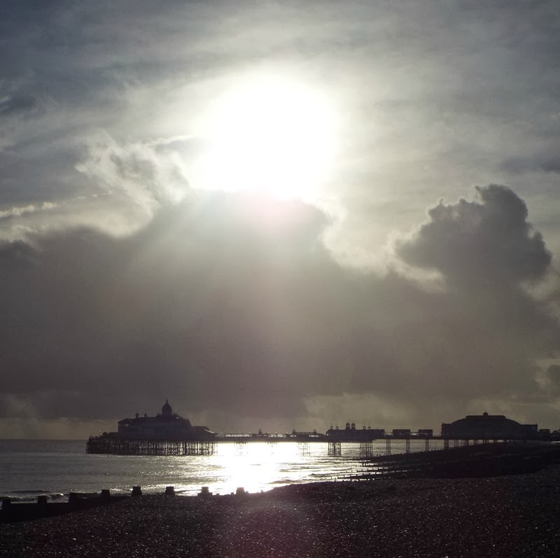 sunshine above the pier