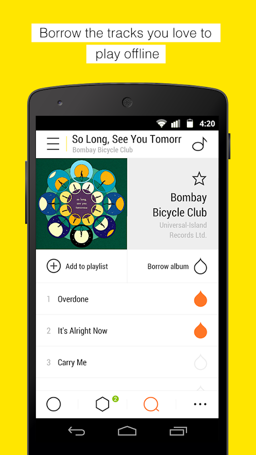 Bloom.fm - The music app - screenshot