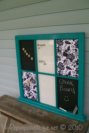 My Repurposed Life - Window Memo Board