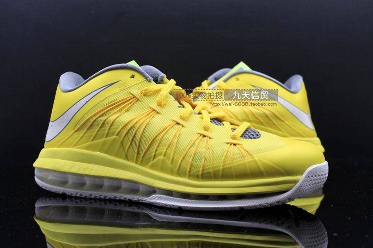 on sale 4a9e7 55614 nike air max lebron x low sonic yellow