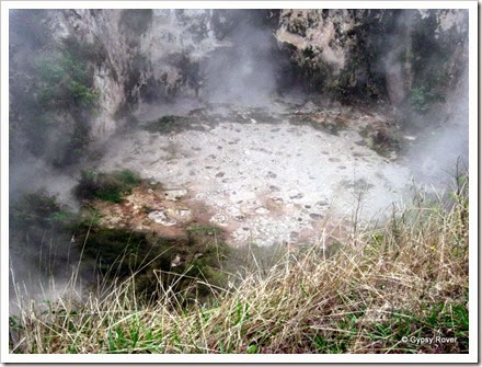 Bubbling mud pool at Craters of the Moon geothermal area.