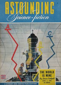 Cover by Timmins of Astounding Science-Fiction magazine, June 1943 issue