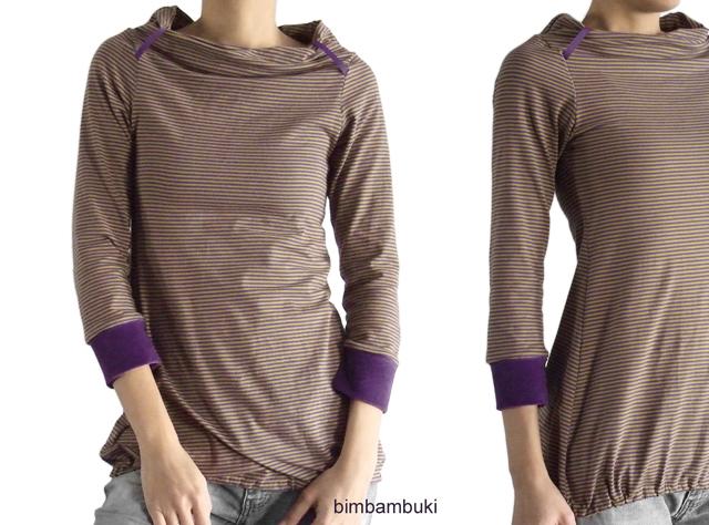 bimbambuki: Me Made Mittwoch (Shirt mit Rollkragen und Nickibündchen)
