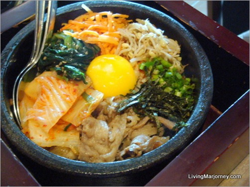 Watami: Beef and Kimchi Rice in Stone Pot