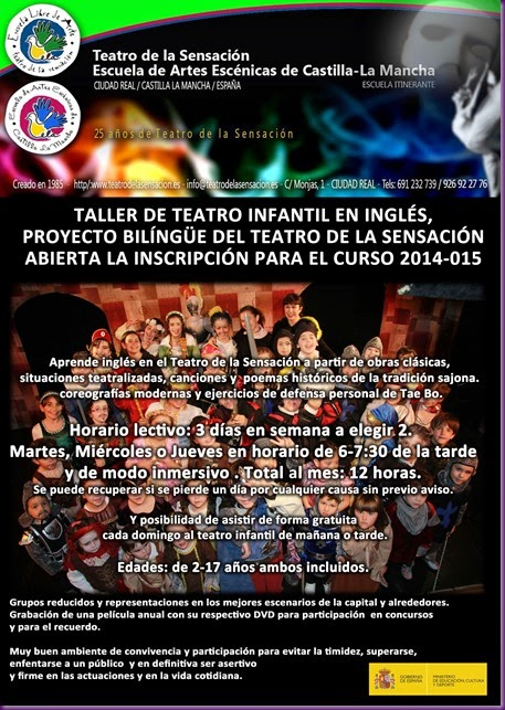 CARTEL INSCRIPCION DE TEATRO EN INGLES-1