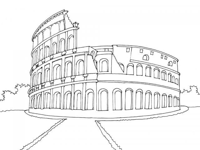 Dibujo Coliseo Roma
