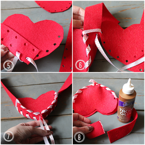 Felt Valentine Card Holder Tutorial