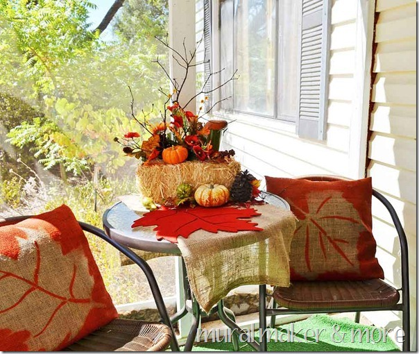 Burlap Pillow Covers for Your Front Porch Fall Decorating