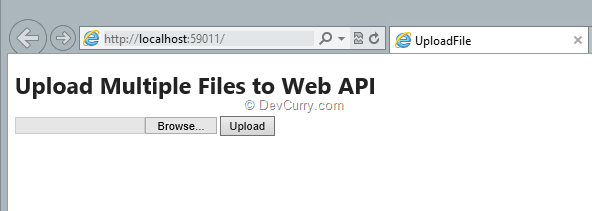 Uploading Multiple Files through an ASP NET Web API Service