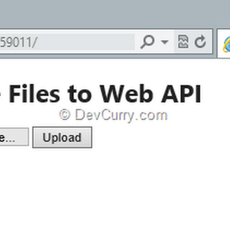 DevCurry: Uploading Multiple Files through an ASP NET Web