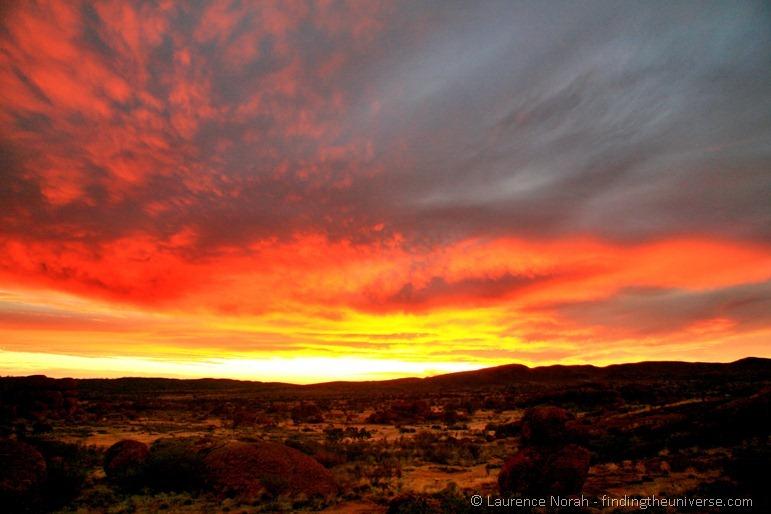 Devils marbles outback sunset