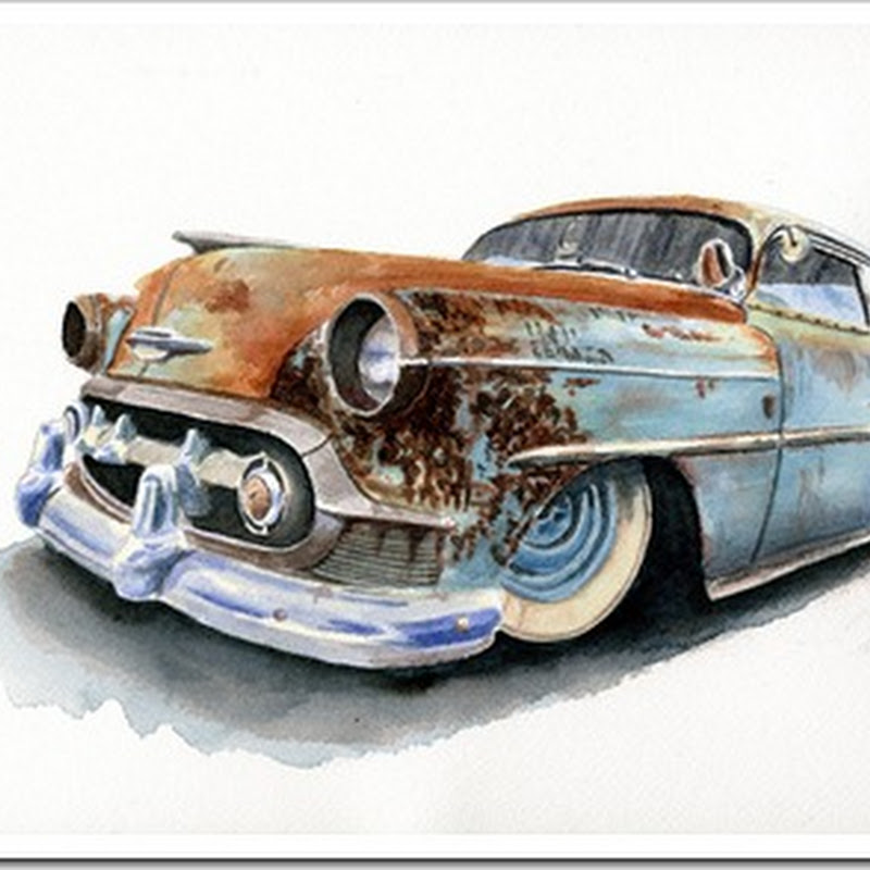 Paul Buford – Vintage Watercolor Paintings of Antique Cars and More