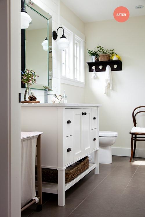 classic white vanity bathroom