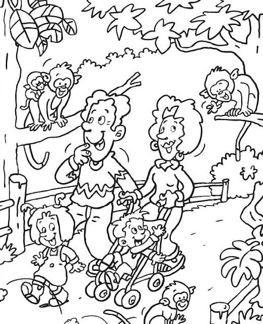 Dibujos De Zoologico Para Colorear Parte 3