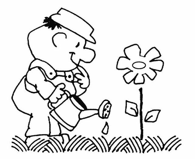 Jardineros Dibujos Para Colorear