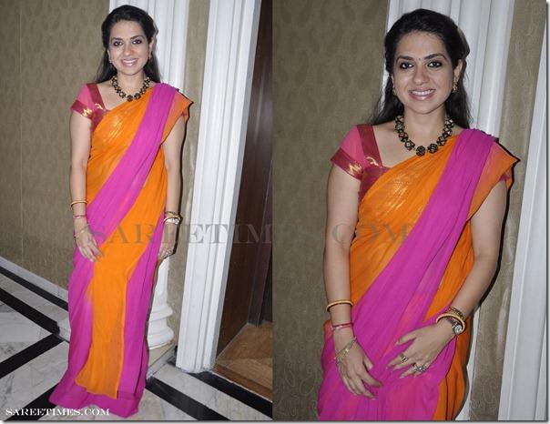 Shory Sapna Vyas Patel: Shaina NC In Saree