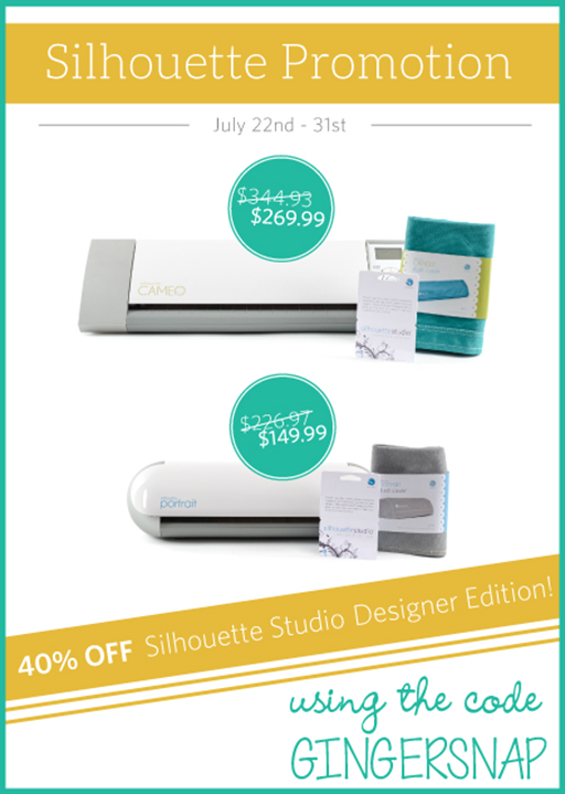 Silhouette July 2014 Promotion using the code GINGERSNAP #SilhouetteCAMEO #SilhouettePortrait #spon[5]