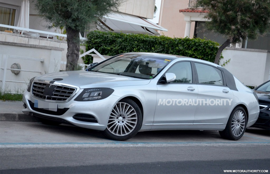 Mercedes Benz Next Generation Pullman Limo Revealed In Spy Shots