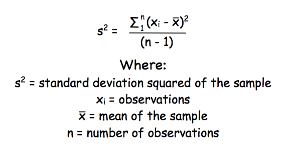 Standard deviation of a sample