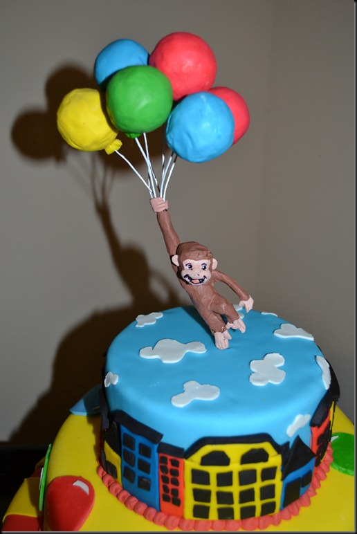 curious george cake template - four rowes and a boo a curious cake