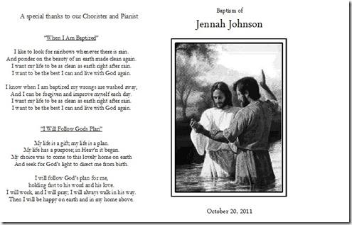 The Johnsons JJs Baptism