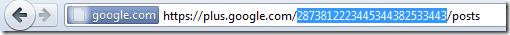 Google plus ID