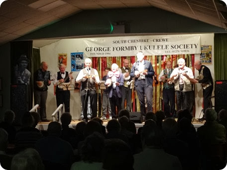 22 Nov 2013 - South Cheshire George Formby Ukulele Society have a Ukulele Thrash