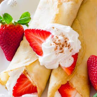 Strawberries 'n Orange Cream Crepes.