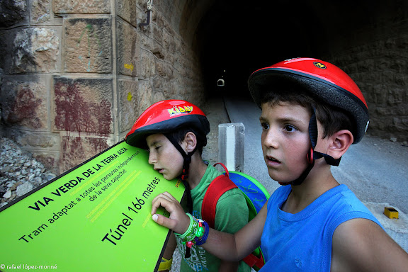 Via Verda de la Terra Alta.Antiga via fèrria de la Val de Zafán (Alcanyís/Alcañiz).Prat de Comte, Terra Alta, Tarragona