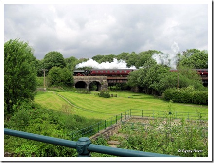 The East Lancs railway running behind the old Higher Woodhill cotton mill.