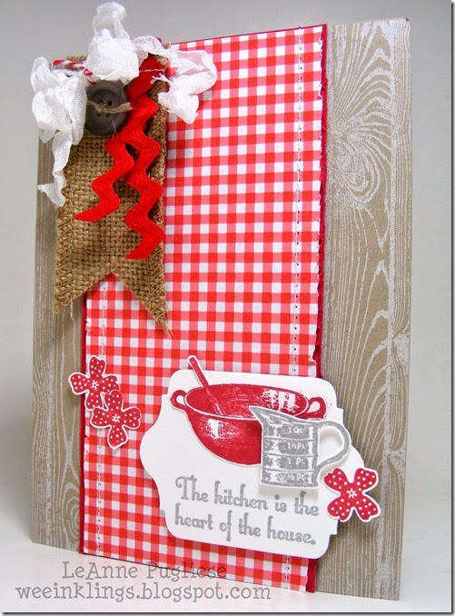 LeAnne Pugliese WeeInklings Paper Players 201 Stampin Kitchen Card