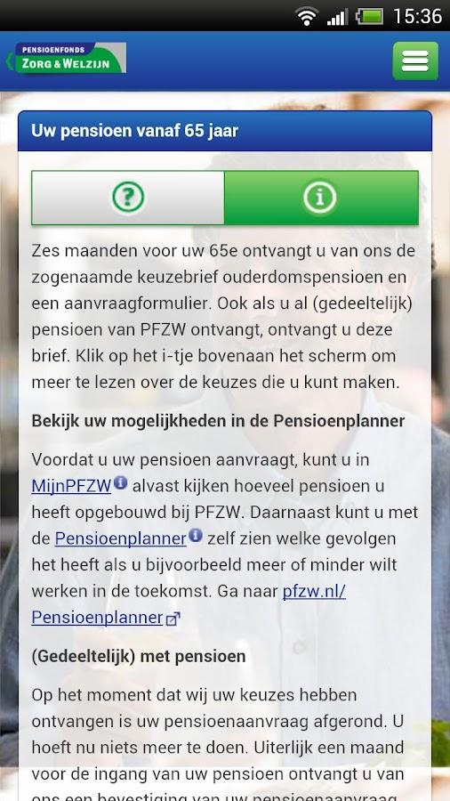 Pensioenroute - screenshot