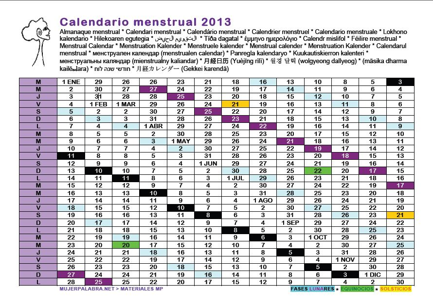 Calendario Mestrual | New Calendar Template Site