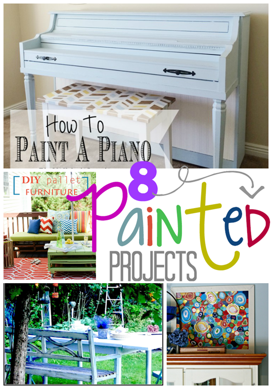 8 Painted Projects at GingerSnapCrafts.com #linkparty #features