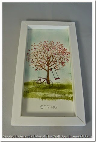 Shadow Box Frame, Sheltering Trees for All Seasons SPRING by Amanda Bates at The Craft Spa   (2)