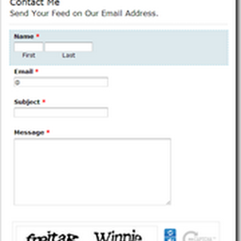 Add Contact Form With File Upload Option To Blogger | My