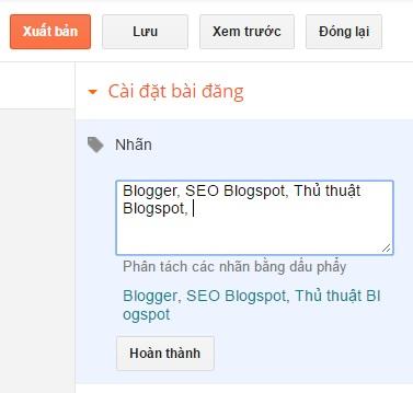 Tìm hiểu về label (nhãn) và cách tạo label cho Blogspot