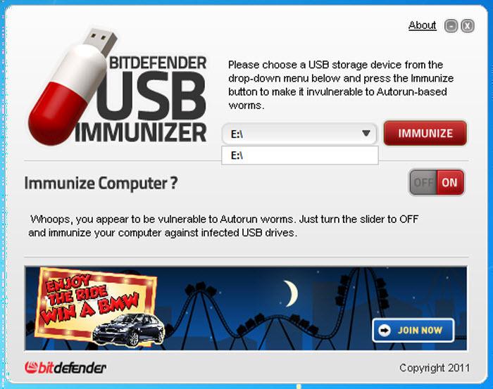 [ ������ ����� ] ����� ������ BitDefender USB Immunizer ����� ������ �������� �� ����