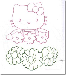 Molde hello Kitty perchero de flores