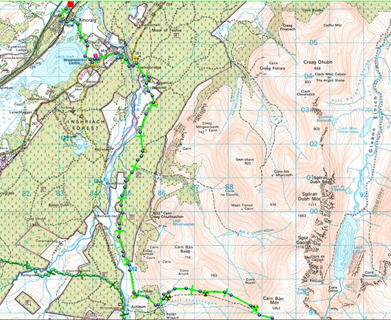 TGO CHALLENGE 2011- DAY 7 Map A