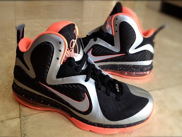 new arrival 9dbdf 51a3c Nike Lebron 9 Metallic Silver   Black   Mango Due in 2012   NIKE LEBRON -  LeBron James Shoes