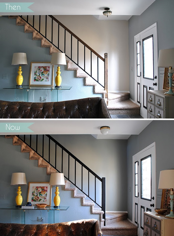 Entry and Stairway Then and Now