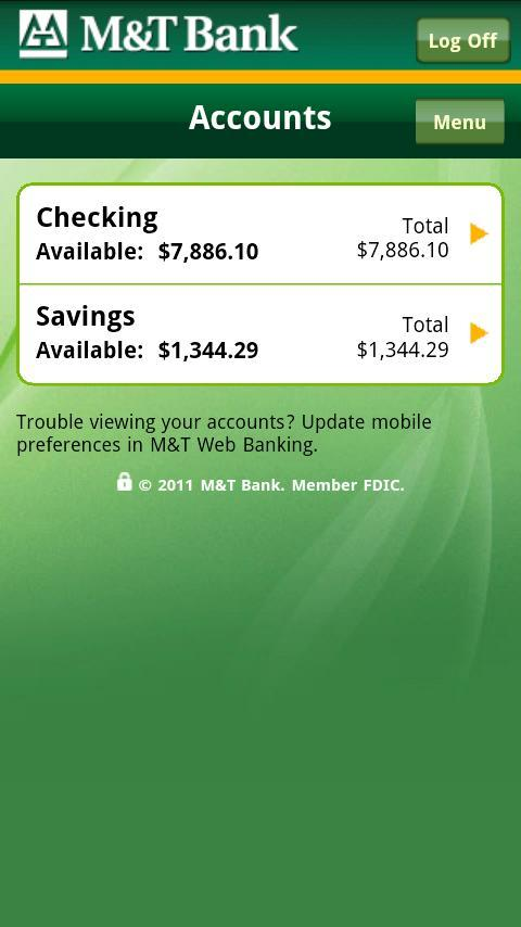 M&T Mobile - screenshot