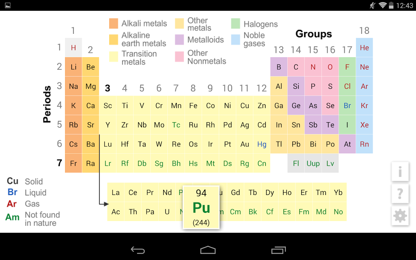 K12 periodic table android apps on google play k12 periodic table screenshot urtaz Images