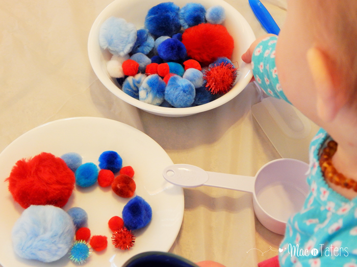 Red White & Blue Pom Pom Play