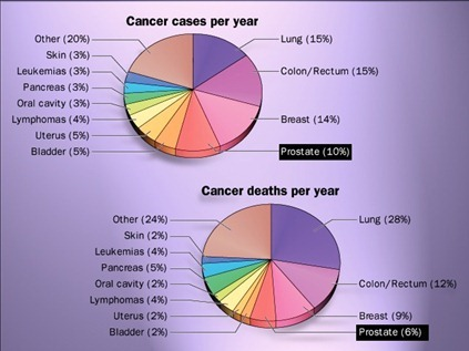 Cancer cases & death per year-prostate