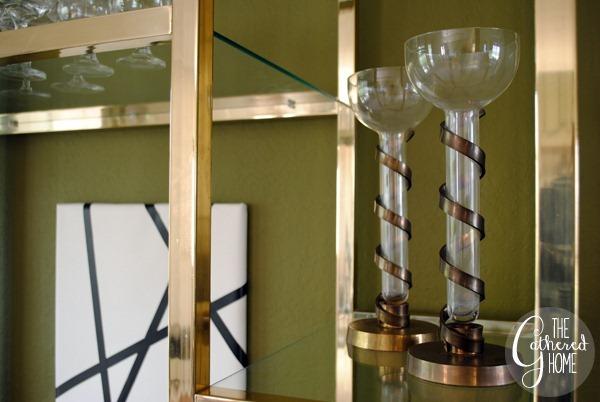 Vintage Brass Spiral Candlesticks