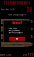 Screenshot of The Sopranos Quiz