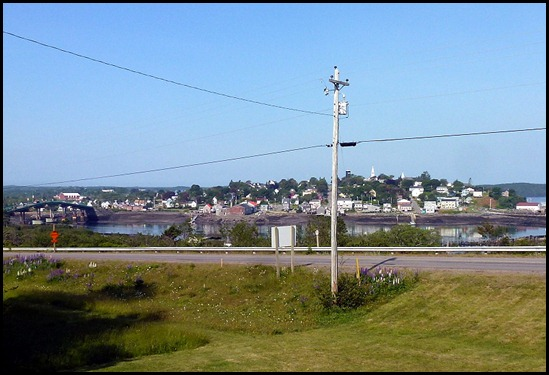 6 - View of bridge and Lubec